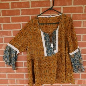 Maurices plus size 2X bohemian tunic top